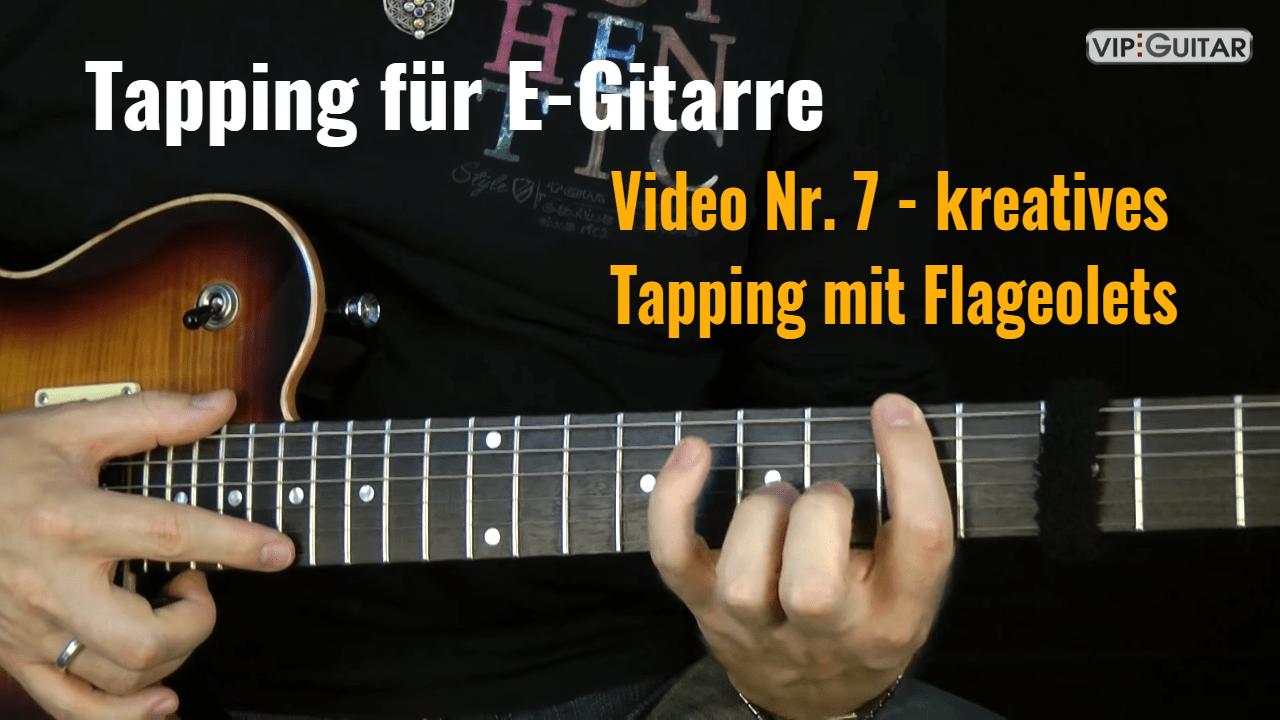 Tapping für E-Gitarre - Video Nr.7
