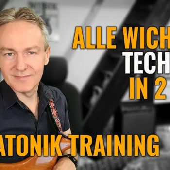 Pentatonik Training - Alle wichtigen Techniken in 2 Licks