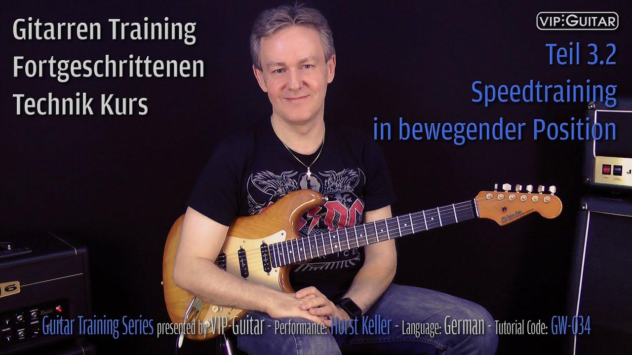 Gitarren Training - Fortgerschrittenen Technik Kurs