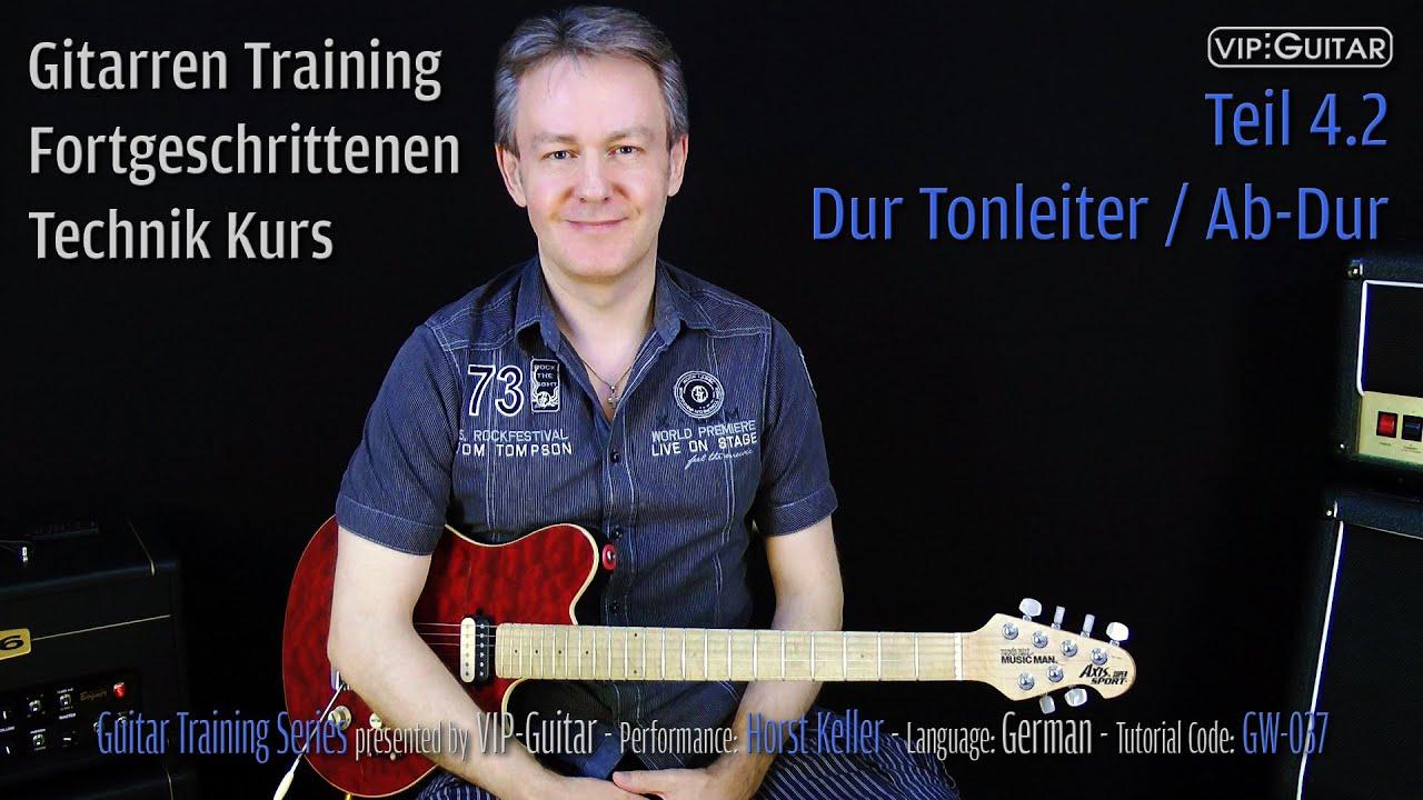 Gitarren Training - Fortgeschrittenen Technik Kurs