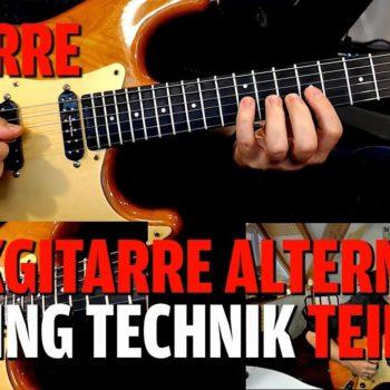 Rockgitarre Alternate Picking