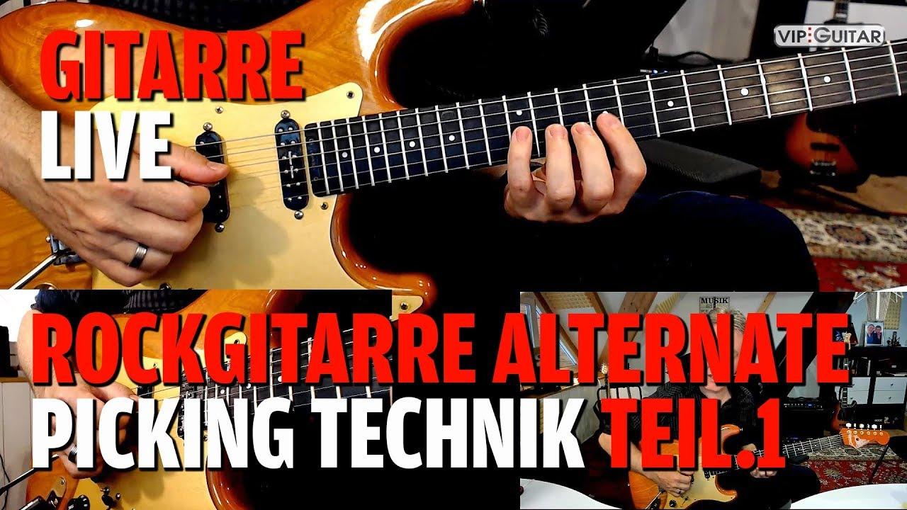 Rockgitarre Alternate Picking