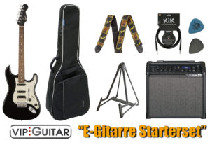 Fender Contemporary HSS VIP-Guitar Einsteigerpaket E-Gitarre