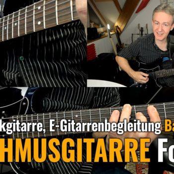 Rhytmusgitarre Folge 8 - E-Gitarrenbegleitung Basic Teil 2