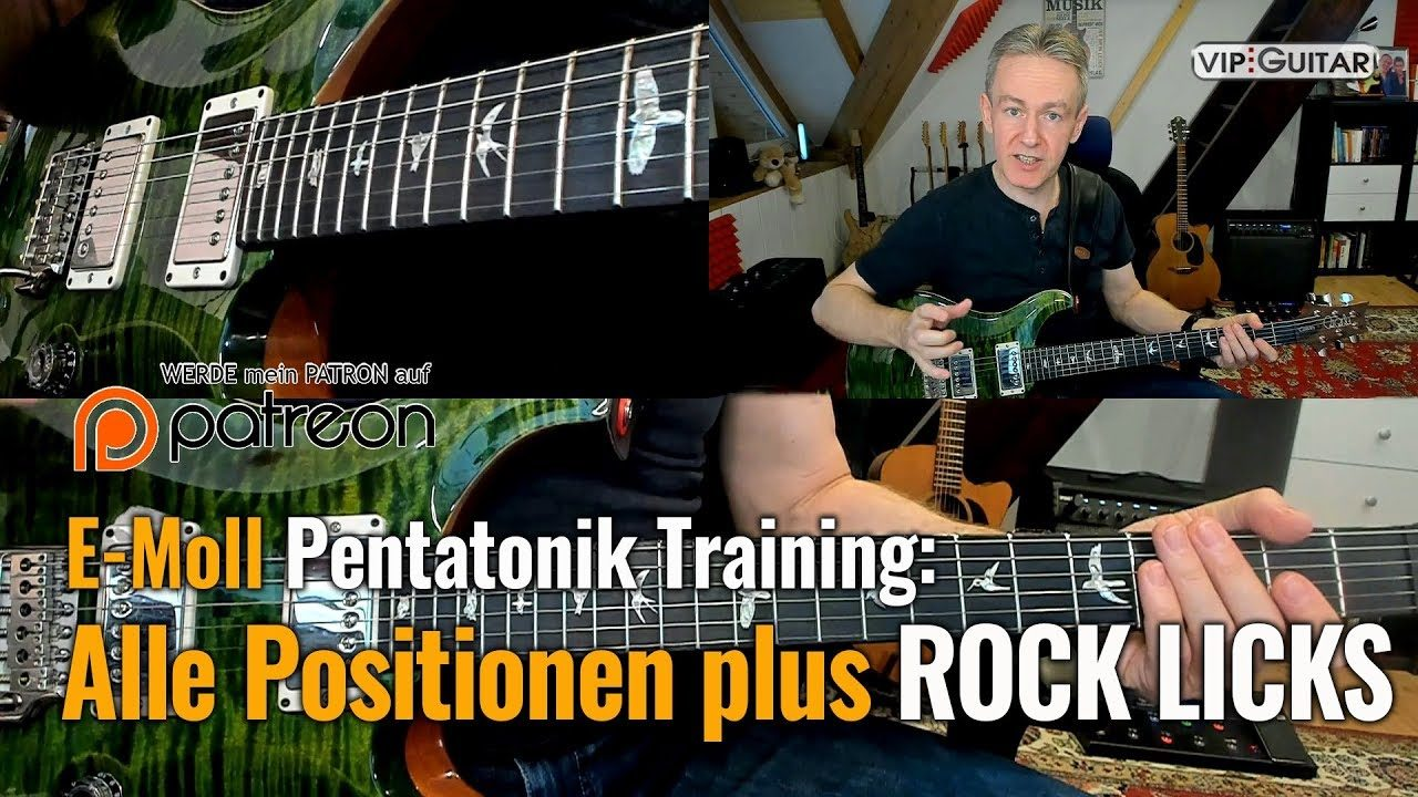 Rockgitarre für Fortgeschrittene - Alle Positionen plus Rock Licks