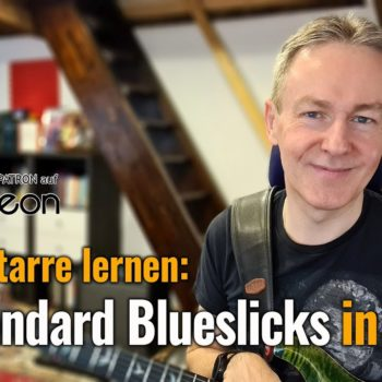 Bluesgitarre lernen: 12 Standard Blueslicks