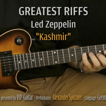 Gitarrenriff Nr. 2 - Led Zeppelin - Kashmir