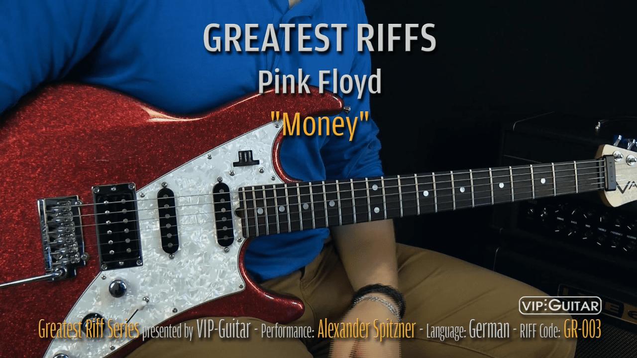 Gitarrenriff Nr. 3 - Pink Floyd - Money