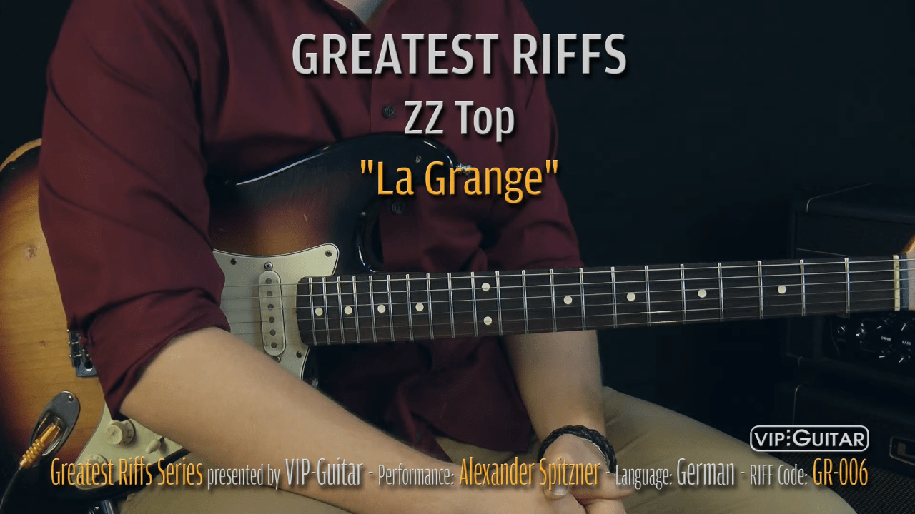 Gitarrenriff Nr. 6 - ZZ Top - La Grange