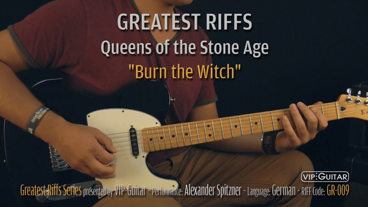 Gitarrenriff Nr. 09 - Queens of the Sotne of Age - Burn the witch
