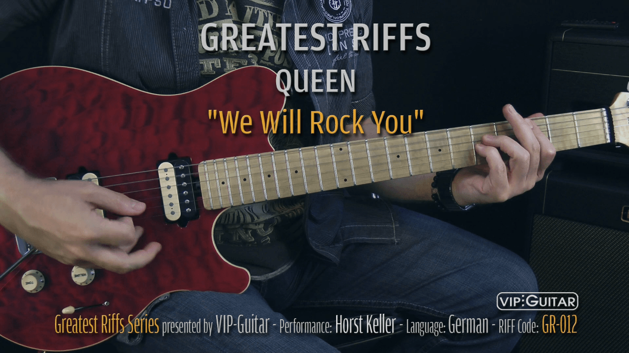 Gitarrenriff Nr. 12 - Queen - We will Rock You