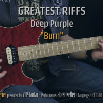 Gitarrenriff Nr. 13 - Deep Purple - Burn