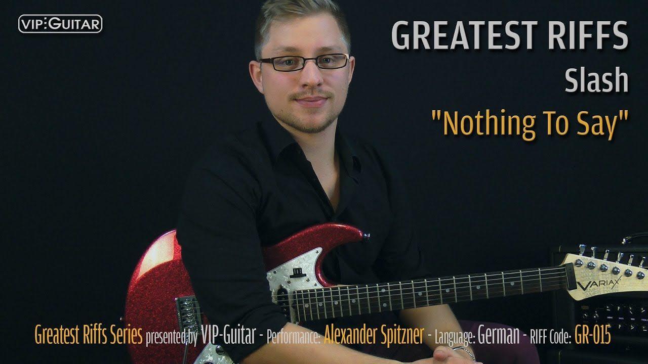 Gitarrenriff Nr. 15 - Slash - Nothin to say