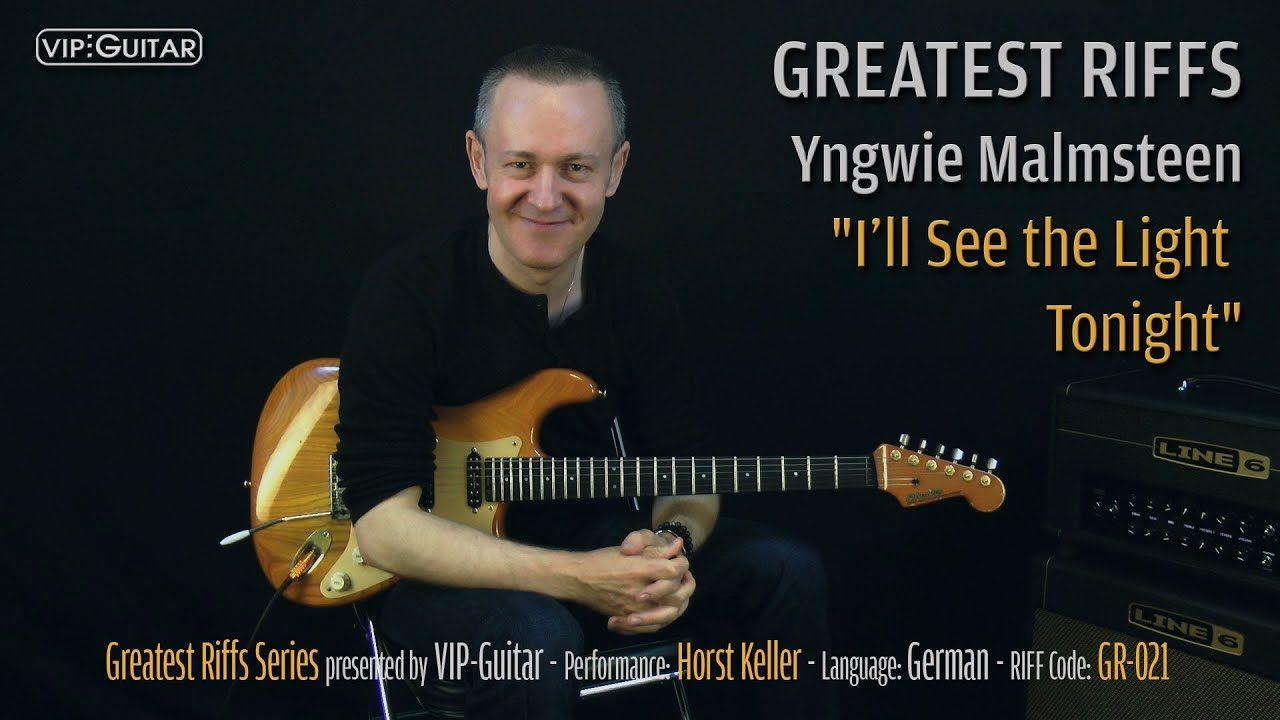 Gitarrenriff Nr. 21 - Yngwie Malmsteen - I'll See the Light Tonight
