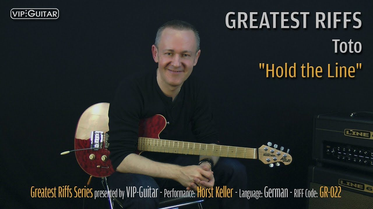 Gitarrenriff Nr. 22 - Toto - Hold the Line