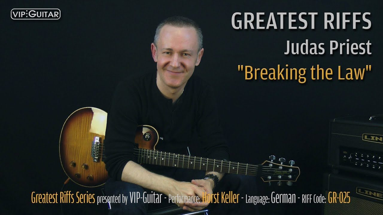 Gitarrenriff Nr. 25 - Judas Priest - Brteaking the Law