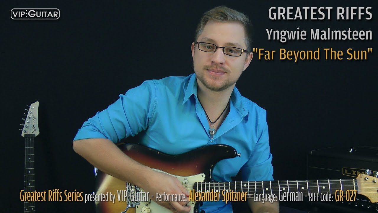 Gitarrenriff Nr. 27 - Yngwie Malmsteen - Far Beyond The Sun