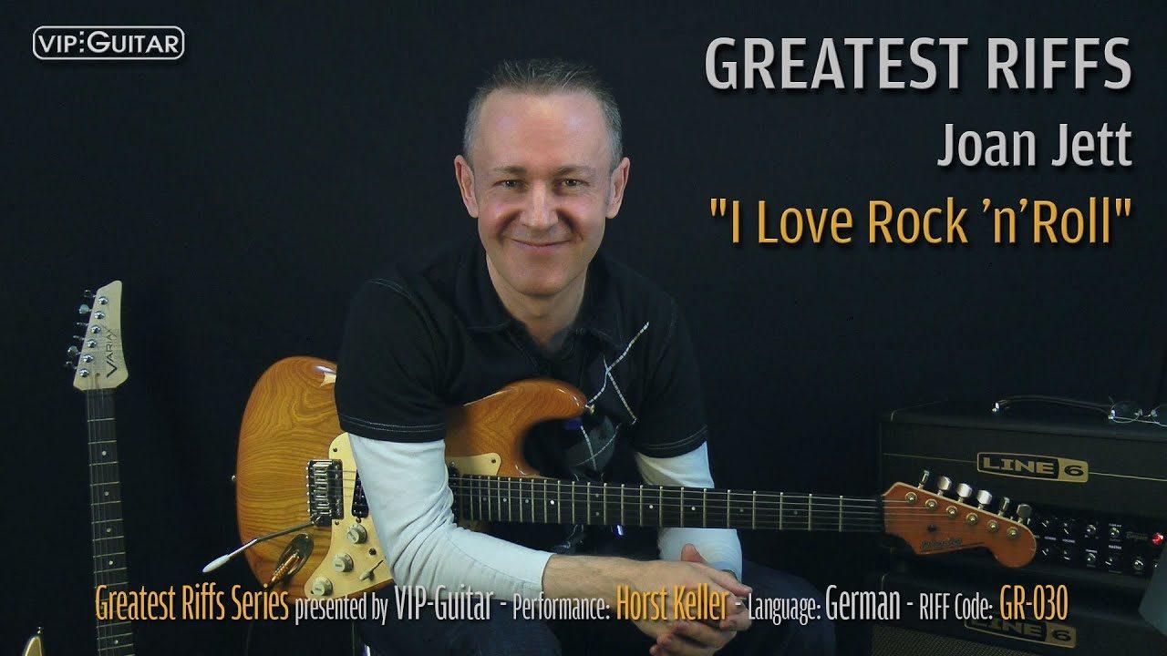 Gitarrenriff Nr. 30 - Joan Jett - I Love ROCK 'n' ROLL