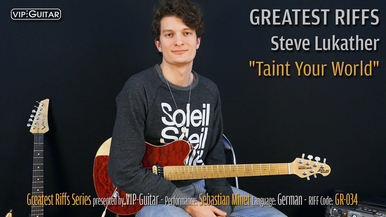 Gitarrenriff Nr. 34 - Steve Lukather - Taint Your World