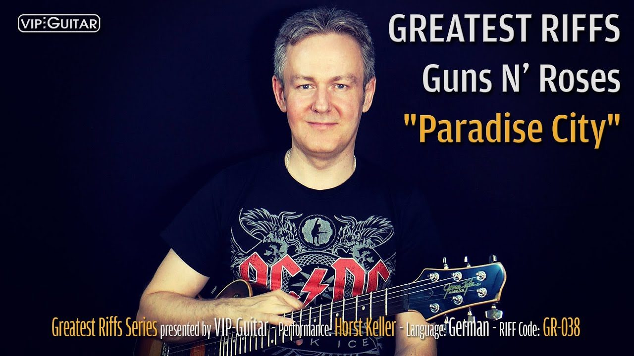 Gitarrenriff Nr. 38 - Guns N' Roses - Paradise City