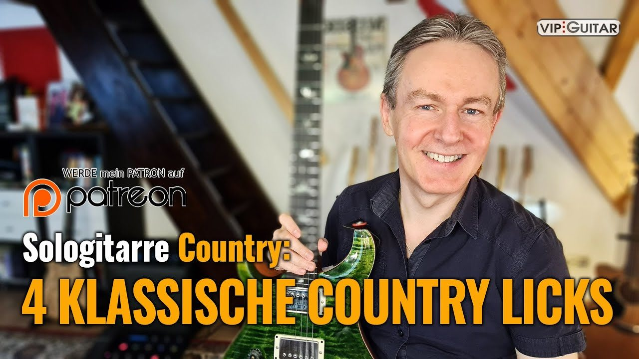 Sologitarre Country: 4 Klassische Country Licks
