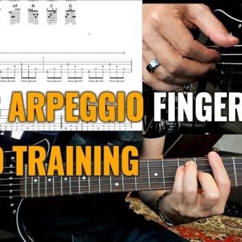 Basic Arpeggio Fingerstyle Speed Training