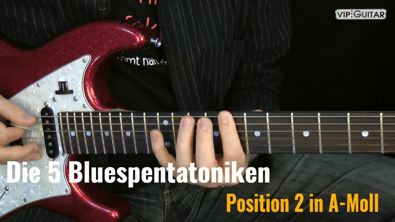 Bluespentatkonik Position 2 in A-Moll