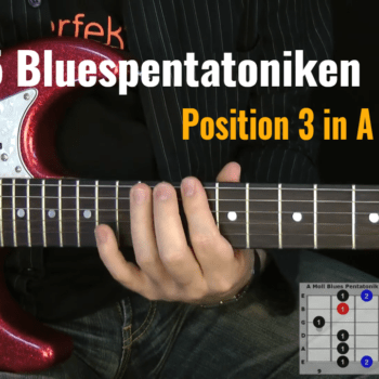 Blues Pentatonik Position.3 in A-Moll