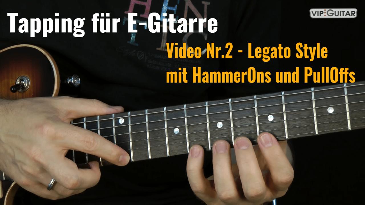 Tapping für E-Gitarre Video Nr.2