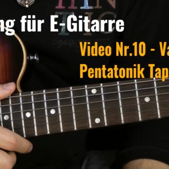 Tapping für E-Gitarre Video Nr.10