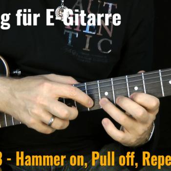 Tapping für E-Gitarre - Video Nr. 3