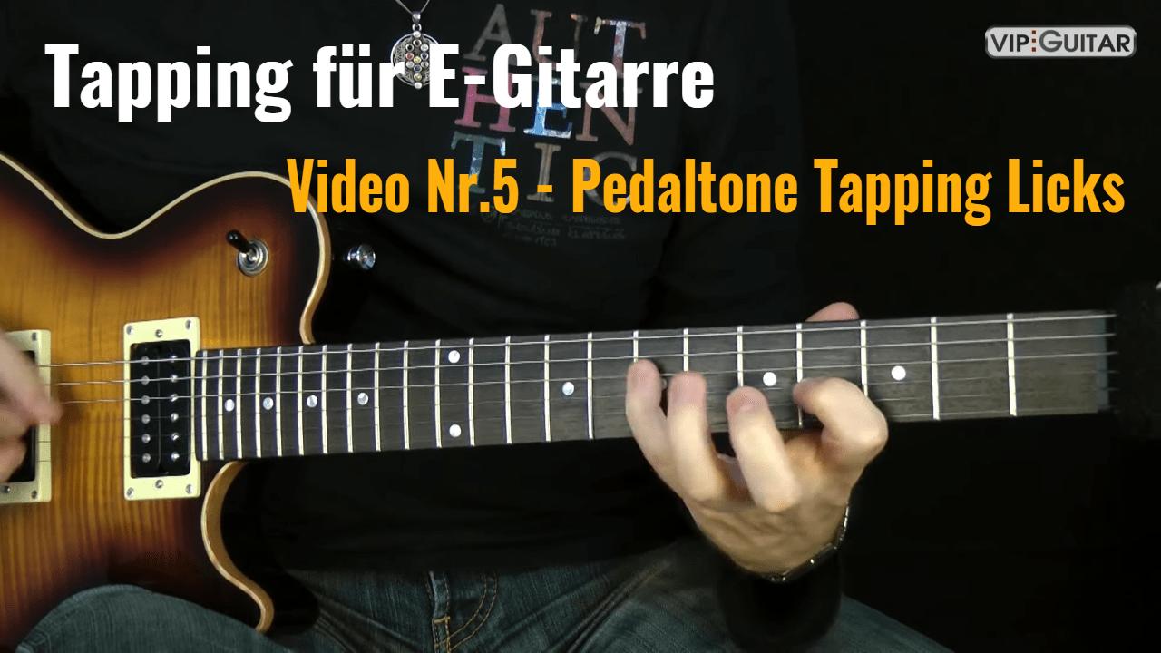 Tapping für E-Gitarre - Video Nr.5