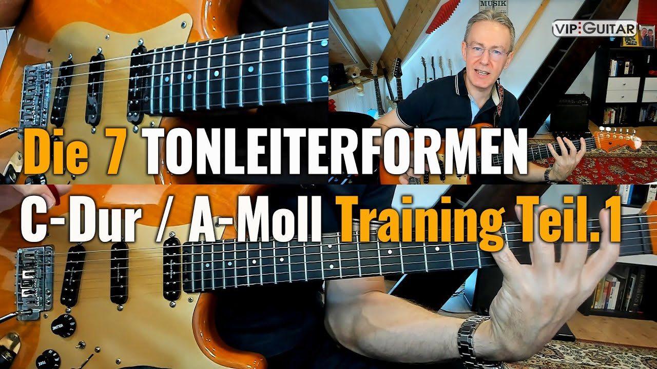 Die 7 Tonleiterformen C-Dur / A-Moll