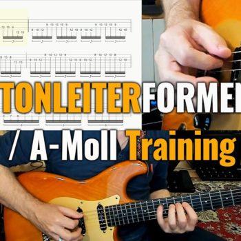 Die 7 Tonleiterformen C-Dur / A-Moll Training