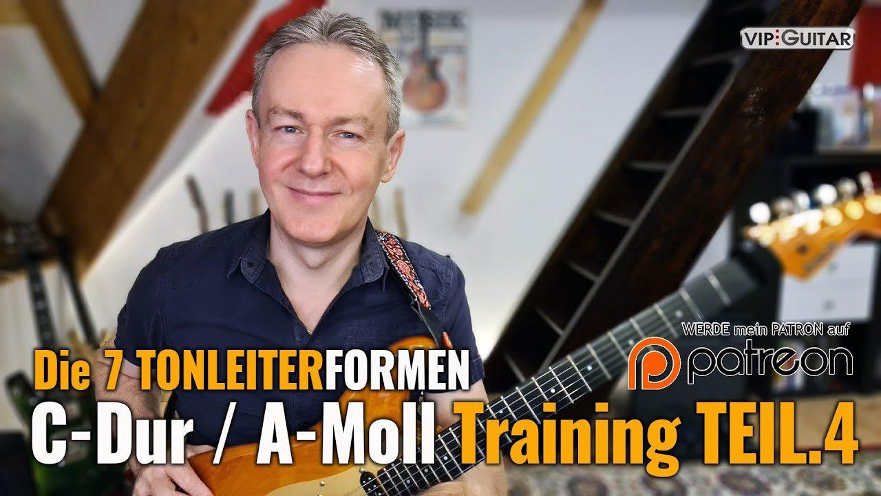 Die wichtigsten Übungen in der C-Dur / A-Moll Tonleiter Teil.4