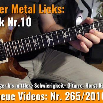 Einsteiger Metal Lick - Solo Gitarre - Lick Nr. 10