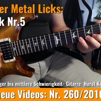 Einsteiger Metal Licks - Solo Gitarre - Lick Nr. 5