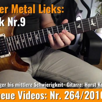 Einsteiger Metal Licks - Solo Lick Nr. 9