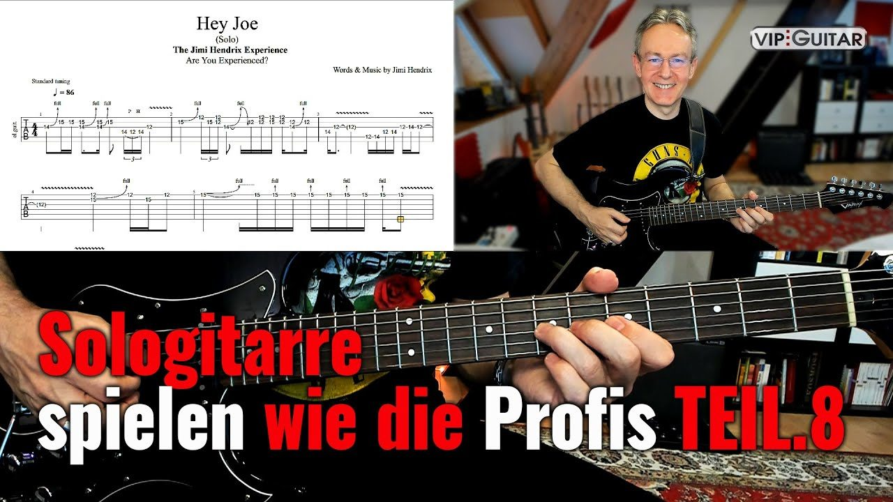 Sologitarre spielen wie die Profis TEIL 8 Finale