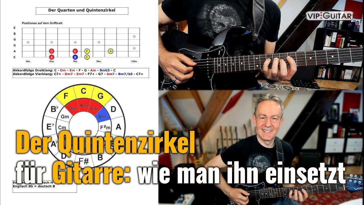 Der Quintenzirkel für Gitarre: wie man ihn einsetzt